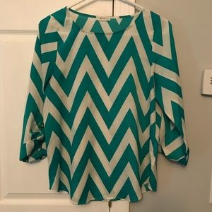 Everly Chevron Blouse from Stitch Fix.  Size small